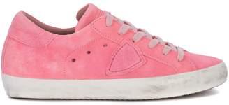 Philippe Model Sneaker Paris Fluo Pink Leather Sneaker