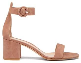 Gianvito Rossi Portofino 60 Suede Sandals - Womens - Nude