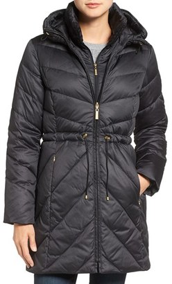 Women's Ellen Tracy Quilted Down Anorak $240 thestylecure.com