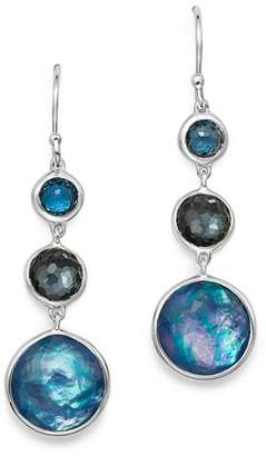 Ippolita Sterling Silver Lollipop Lapis Triplet, London Blue Topaz & Hematite Drop Earrings in Eclipse