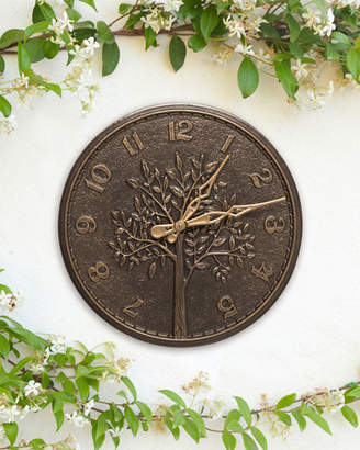 "Whitehall Products Tree of Life 16"" Indoor/Outdoor Wall Clock"