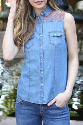 Angie Western Jeans Shirt