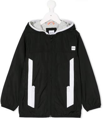 Boss Kids colour-block zip-up jacket