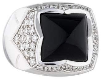 Bvlgari Onyx and Diamond Piramide Ring