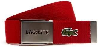 Lacoste Men's L.12.12 Textile Signature Croc Logo Belt