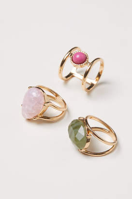H&M 3-pack Rings - Pink