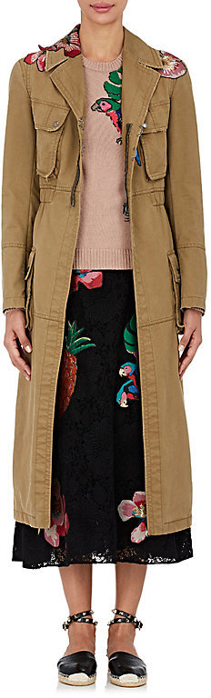 ValentinoValentino Women's Tropical Dream Embellished Cotton Trench Coat