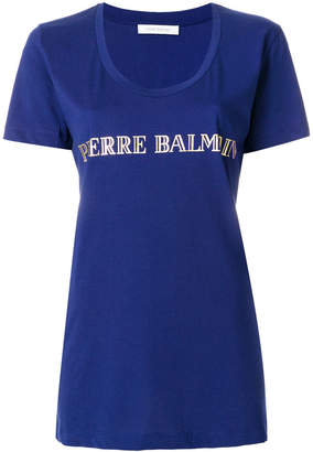 Pierre Balmain scoop neck logo T-shirt