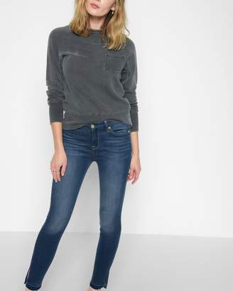 7 For All Mankind B(air) High Waist Ankle Skinny With Released Side Hem Splits in Manhattan