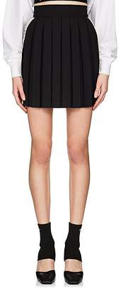 Palm Angels Women's Floral-Tape Pleated Miniskirt