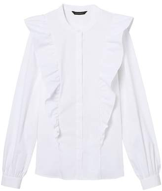 Banana Republic Riley-Fit Ruffle-Front Shirt
