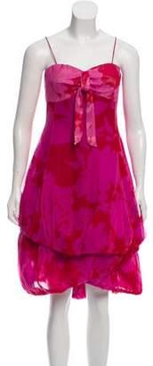 Giorgio Armani Sleeveless Floral Print Dress