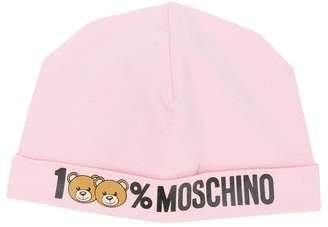 Moschino Kids 100% logo hat