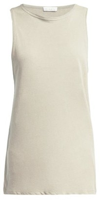 Raey Racerback Cotton Tank Top - Womens - Grey