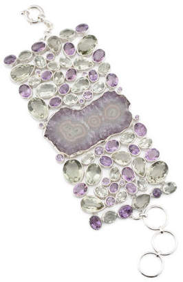Made In India Sterling Silver Amethyst Bracelet