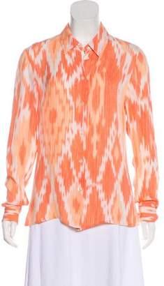 Michael Kors Silk Printed Top