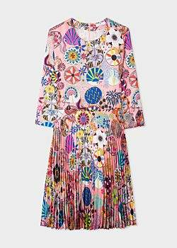 Women's Pink 'Kaleidoscope Floral' Print Dress
