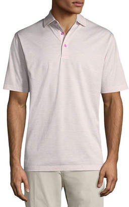 Peter Millar Heritage Striped Nanoluxe Polo Shirt