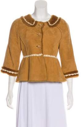 Manoush Suede Shearling Jacket