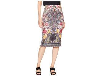 ECI Printed Scuba Midi Skirt Women's Skirt