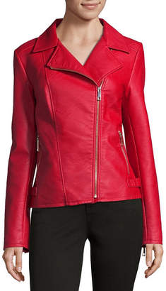 A.N.A Faux Leather Midweight Motorcycle Jacket