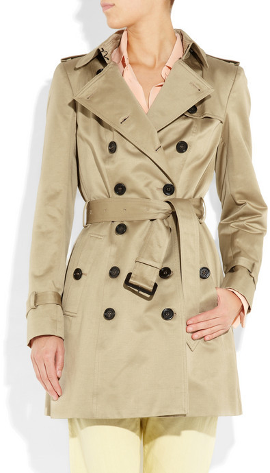 Burberry Mid-length cotton-sateen trench coat