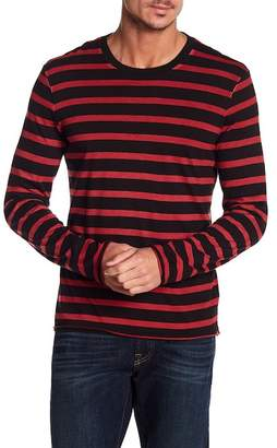 7 For All Mankind Long Sleeve Stripe Crew Neck Tee