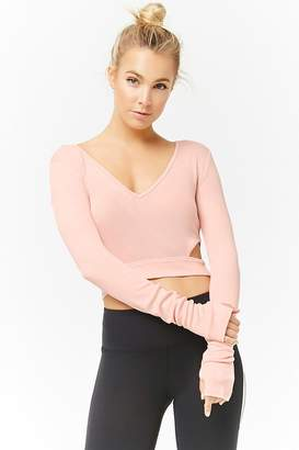 Forever 21 Active Ribbed Cutout Top