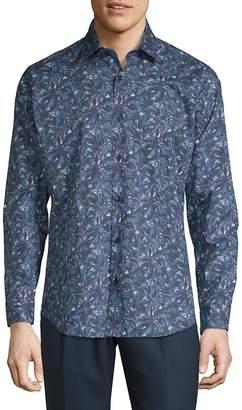 Jared Lang Men's Printed Casual Button-Down Shirt