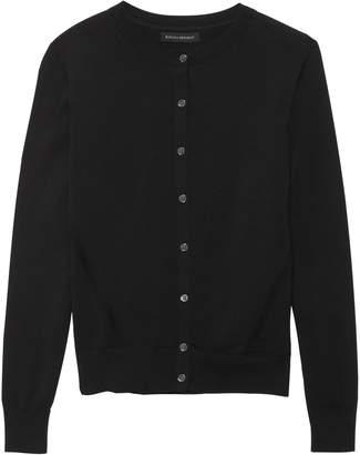Banana Republic Petite Stretch-Cotton Cardigan Sweater