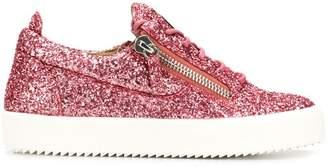 Giuseppe Zanotti Design side zip glitter sneakers