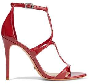 Schutz Rania Cutout Patent-Leather Sandals