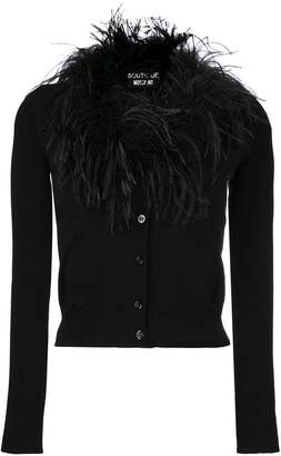 Moschino feather neck cardigan