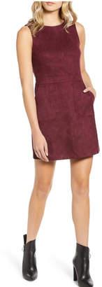 Bishop + Young Gemma Faux Suede Sleeveless Sheath Dress