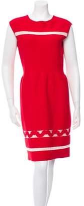 Giambattista Valli Crew Neck Sheath Dress w/ Tags Red Crew Neck Sheath Dress w/ Tags