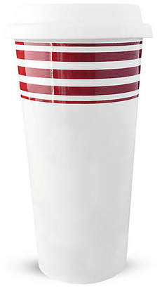 Caskata Beach Towel Striped Travel Mug - Red
