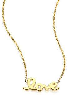 Roberto Coin Women's Tiny Treasures 18K Yellow Gold Love Letter Necklace