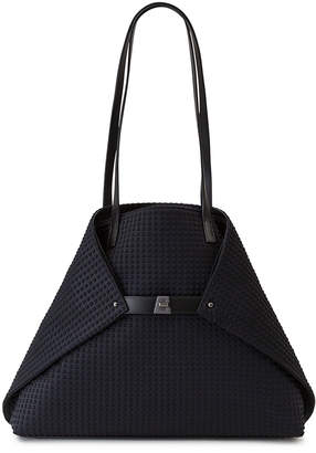 Akris Ai Medium Techno Fabric Shoulder Bag, Black