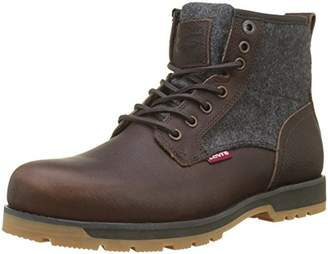 Levi's Men's Logan Desert Boots, (Dark Brown 29)