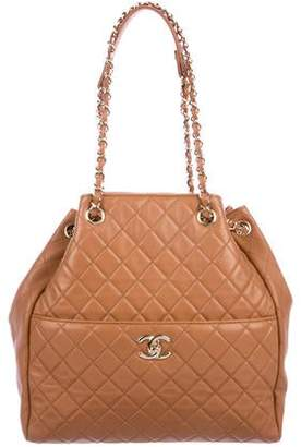 d9fc3aeca842fa Chanel Quilted Drawstring Bucket Bag