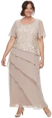 Plus Size Maya Brooke Tiered Dress