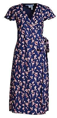 Draper James Draper James Women's Floral Linen Wrap Dress