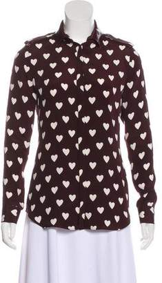 Burberry Silk Heart Print Top