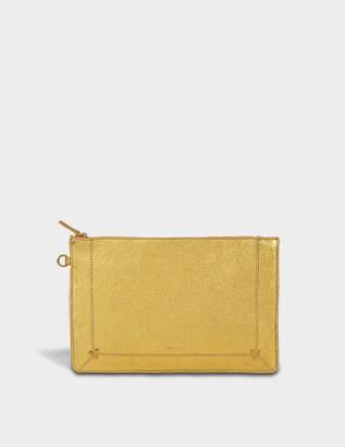 Jerome Dreyfuss Popoche L Bag in Gold Lambskin