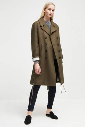 French Connenction Wool Melton Peacoat