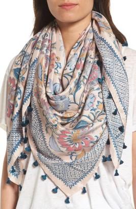 Women's Hinge Vintage Blooms Square Silk Scaf $79 thestylecure.com