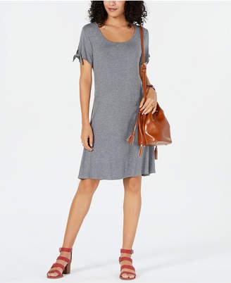 Style&Co. Style & Co Petite Tie-Sleeve Swing Dress