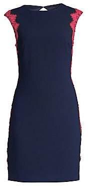 Trina Turk Women's Lace-Trimmed Sheath Dress - Size 0