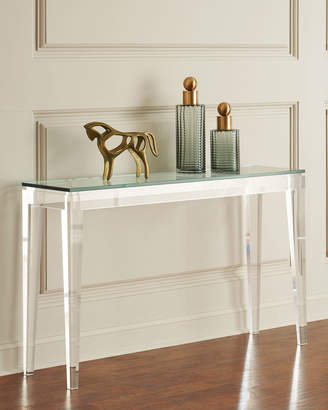 Interlude Home Teighlor Acrylic Console Table