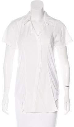 Helmut Lang Short Sleeve Button-Up Top